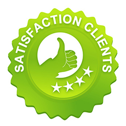 Bouton de satisfaction client