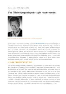 Franck Louis président d'Agir Recouvrement