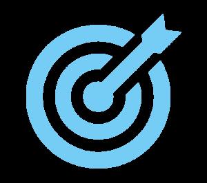 icone cible objectif pgn bleu